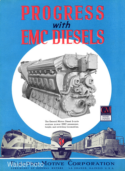 1940 Electro-Motive Corporation, Subsidiary of General Motors - Diesels Page 1 of 5.