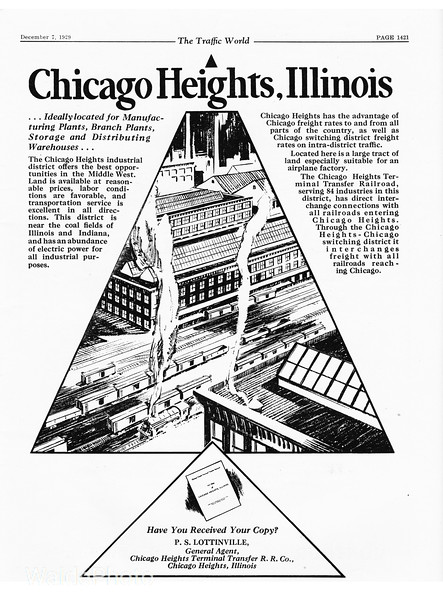 1929 Chicago Heights Terminal Transfer Railroad Company.