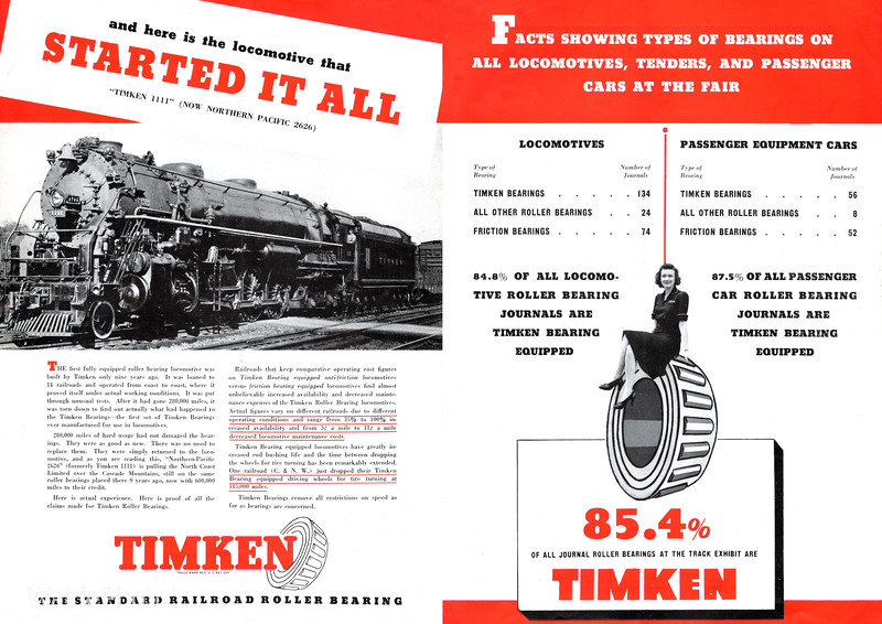 1939 Timken Roller Bearing Company - Pages 6 & 7 of 8.