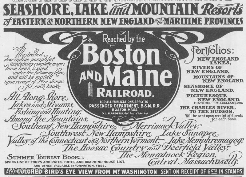 1905 Boston & Maine Railroad.