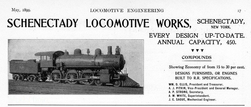 1899 Schenectady Locomotive Works.