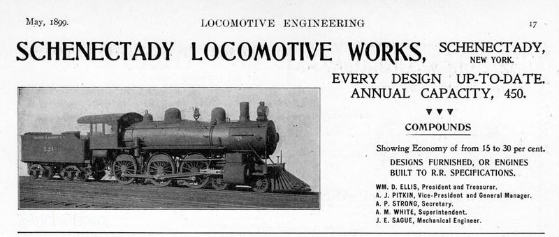 1899 Schenectady Locomotive Works.