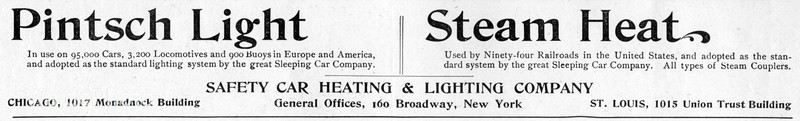 1900 Safety Car Heating & Lighting Company.