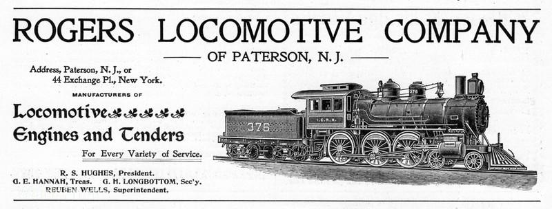 1899 Rogers Locomotive Company.