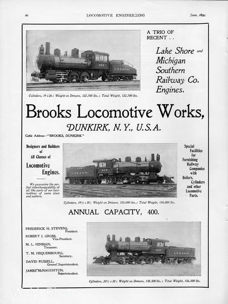 1899 Brooks Locomotive Works.