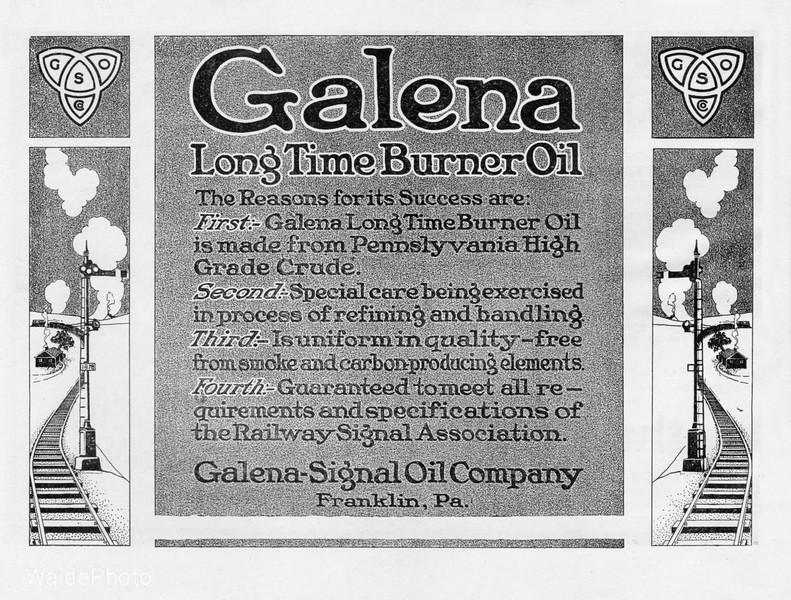 1919 Galena Signal Oil Company.