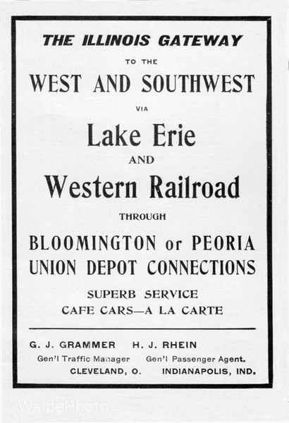 1903 Lake Erie & Western Railroad.