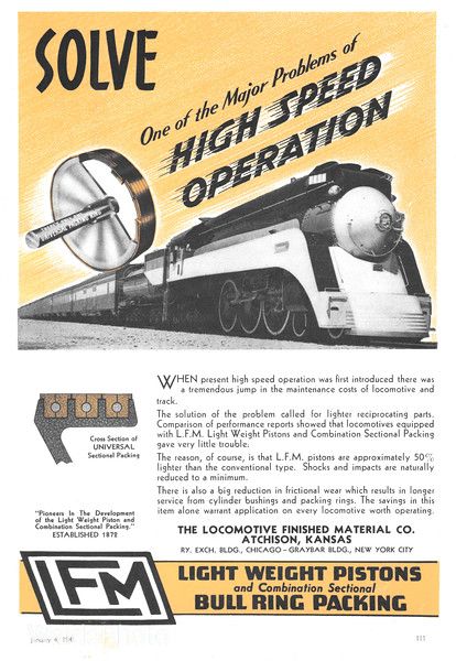 1941 Locomotive Finished Material Company.