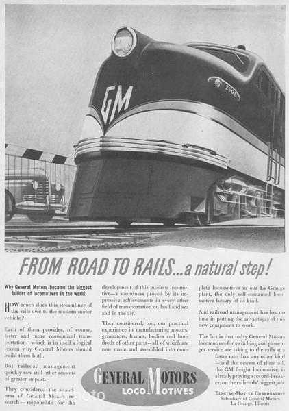 1940's General Motor's Electro-Motive Division