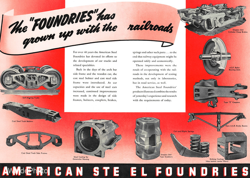 1940 American Steel Foundries.