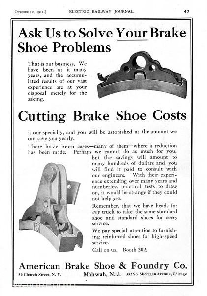 1911 American Brake Shoe & Foundry Company.