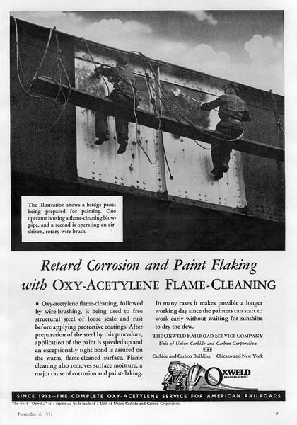 1941 Oxyweld Railroad Service Company.