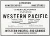 1913 Western Pacific Railway.