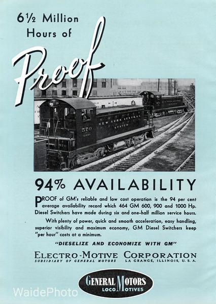 1941 Electro-Motive Corporation, General Motors.