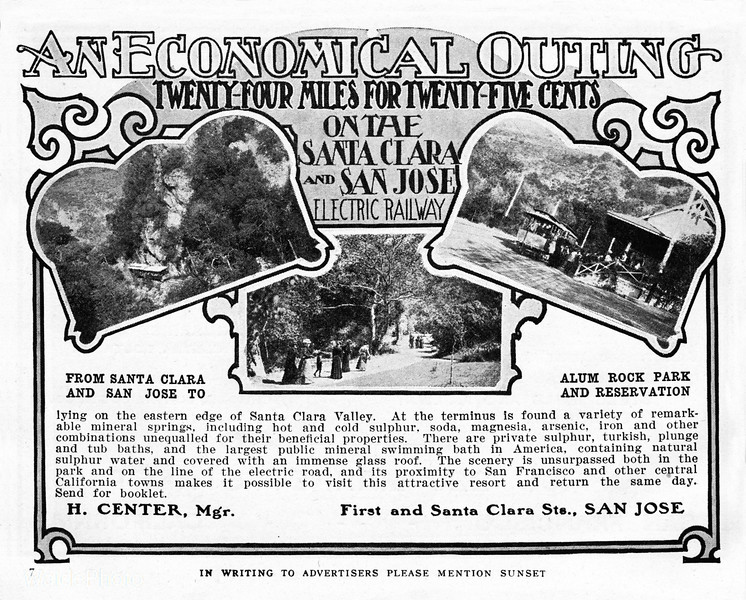 1905 Santa Clara and San Jose Electric Railway.
