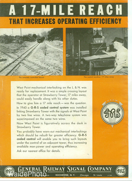 1940's General Railway Signal Company.
