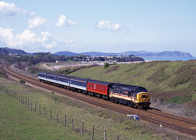 37405 approaches Abergele with the 12.23 Bangor-Crewe 4/5/96.