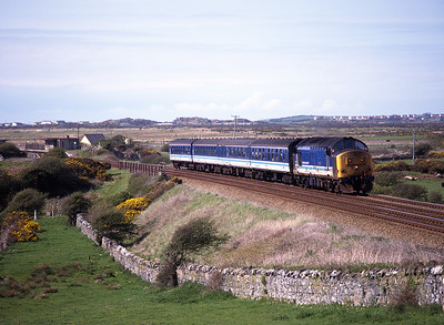 37422 passes Rhosneiger with the 15.53 Holyhead-Crewe on 4/5/96.