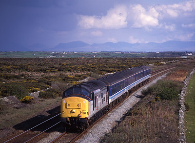 37413 passes Valley with the 15.24 Crewe-Holyhead 4/5/96.