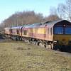 66157, 66055 & 66142 - Water Orton - 8 Feb 2011