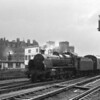 An unidentified N arrives into Waterloo in Feb 65 with a stopping service ex Basingstoke.