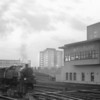 An unidentified BR Standard 3MT wanders into Waterloo in Feb 65 with the milk empties ex Vauxhall.