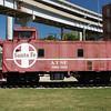 Former Santa Fe caboose on display in Kansas City