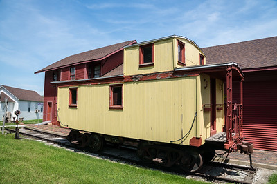 Former Northern Pacific caboose on display in Pierce, NE.