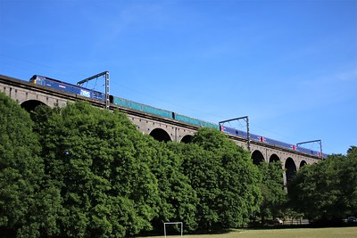47815 'Lost Boys 68-88' crosses Digswell Viaduct, Welwyn at 0854/5Q76 Ely Papworth to Newport Docks with yet another ex GWR MK3 Scrap stock move   27/05/20  Consist.. 977087 975875 42070 42043 42099 42272 42216 42283 6344