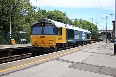 66789 'British Rail 1948 - 1997' passing Hertford North at 1315/6L37 Hoo Jct to Whitemoor    02/06/20