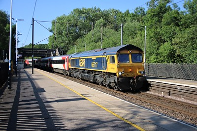 66717 'Good Old Boy' passes Bayford (()833 16 mins early) on 0820/5z91 Bounds Green to Doncaster Down Decoy with stored MK4s    30/05/20  Consist.. 12218 11328 10310 12320 82217