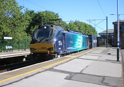 88002 'Prometheus' passes Hertford North at 1617 on 4z45 Daventry to Mossend diverted Modal   31/05/20