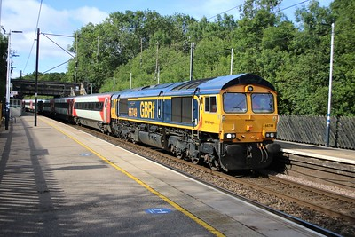 """66749 """"Christopher Hopcroft MBE 60 Years Railway Service""""   Passes Bayford 0836/5Z91 Bounds Green T&RSMD - Doncaster Down Decoy   06/06/20  Consist... 12201 12401 12459 12478 12301 10320 11277 11303 11403 82219"""