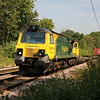 70011 passes Bayford on the Hertford Loop at 1057/4o90 Leeds-Southampton Freightliner     07/07/18