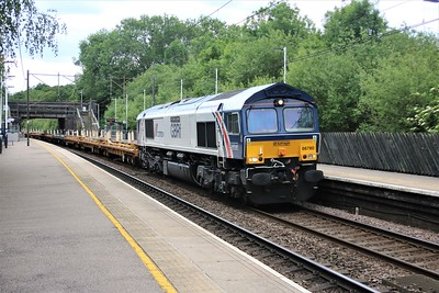 66780 'Cemex Express' passes Bayford at 1310/6L37 Hoo Jct to Whitemoor Yard   27/05/20