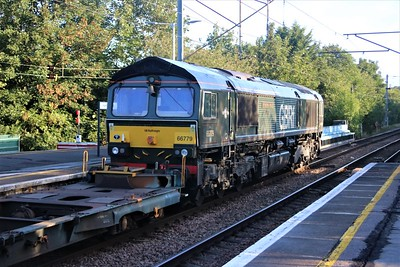 66779 'Evening Star' passes Hertford North 0716/4E14 Felixstowe to Doncaster iPort diverted Modal   22/08/20