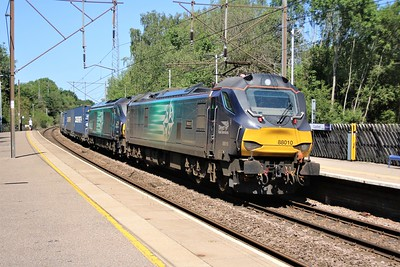 88010 'Aurora'_68016 'Fearless' seen passing Bayford 1408/4z27 Mossend to Daventry diverted Modal     25/05/20