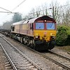 66096 passes Welwyn North 1148/4E26 Dollands Moor-Scunthorpe empties   02/04/18