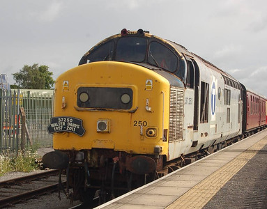 37250 at the head of the 1000 departure from Leeming Bar, 24th June 2012.