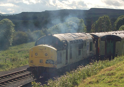 37250 starts the delayed 1735 from Redmire on 24th June 2012.