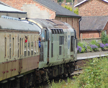 Another view of 37250 from the train, this time at it approaches Bedale Station.