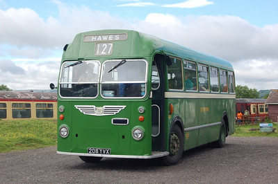 Preserved Eastern National Bristol MW/ECW 208YVX at Redmire.