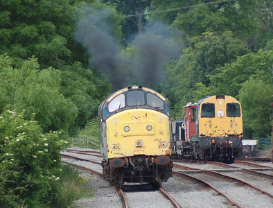 37250 running round at Redmire, 24th June