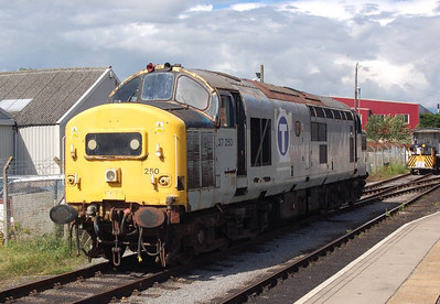37250 running round at Leeming Bar. Pity the sun came out in the afternoon!