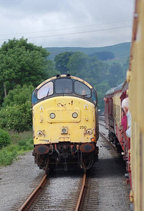 Another view of 37250 as it ran round at Redmire