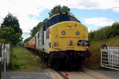 37250 at Finghall level crossing.