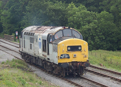 37250 reversing onto its train at Redmire