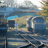 Crane 81314, Dmu 51247 & 47540 - Wensleydale Railway - 6 November 2011