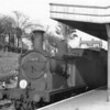 Awaiting departure from Swanage with the 17 38 for Wareham on 09/05/64 is M7 0-4-4T 30107.