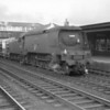 Exmouth Junction survivor, now Eastleigh allocated, Unmodified Pacific 34086 219 Squadron brings a freight off of the Romsey branch on 11/09/65.